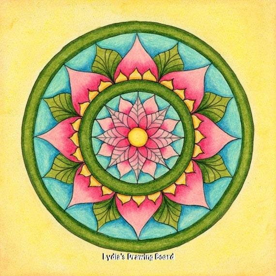Note Cards, Notecards, Blank Cards, Birthday Card, Thank You Cards, Cards, Floral Card, Mandala Art, Small Art, Mandala, Mandala Print