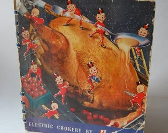 Vintage Cookbook, Electric Cookery by Hotpoint