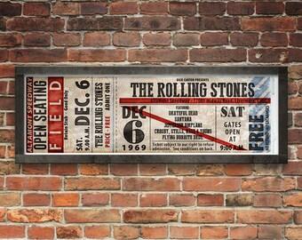 Altamont Ticket Stub Poster