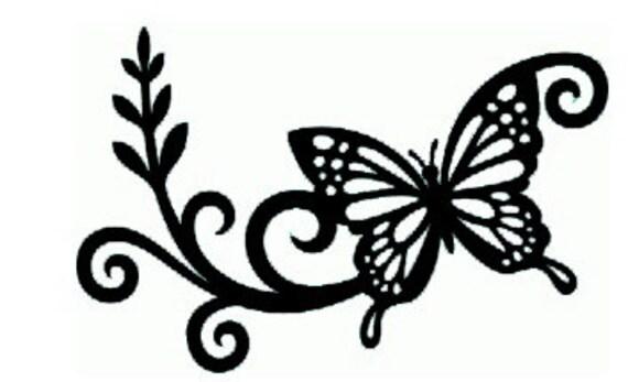 Flourish Butterfly Vinyl Decal Sticker - Butterfly vinyl decals