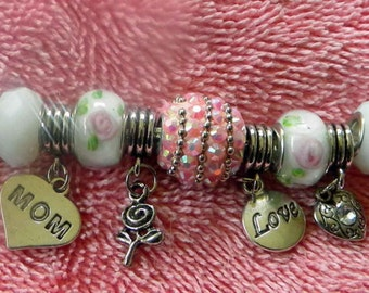 Large Big Holed Mothers Day Bracelet