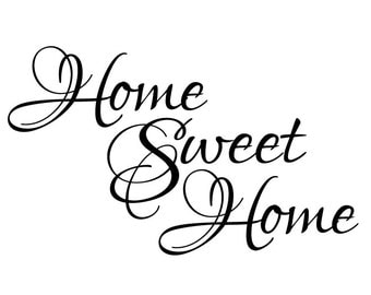 Wall Quote Home Sweet Home Vinyl Wall Decal #2 Graphics Home Decor