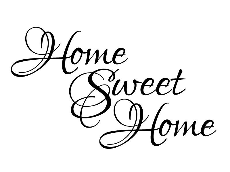 Wall Quote Home Sweet Home Vinyl Wall Decal 2 Graphics Home