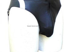 Leather Jockstrap With Colour Stripe Custom Made To Order JO-011