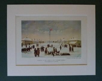 Vintage Canadian Military Print, Fort Garry, Winnipeg Alberta, British Empire, Available Framed, Colonial History Print Winter Snow Manitoba
