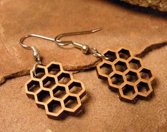 Medium Honeycomb Dangle Earrings