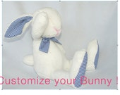 Custom made bunny - customize your bunny - plush bunny, Easter bunny, rabbit, baby shower gift