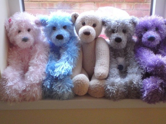 Teddy Bear Knitting Patterns Free Download : Huggable Teddy Bear PDF Knitting Pattern