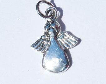 925 Genuine Silver Angel Charm - 92.5% Sterling Necklace Weddings Christening Bride Bridesmaid 21st 16 Birthday Gift Graduation New Born 18