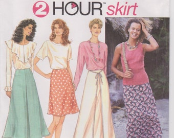Simplicity #9114, 2 Hour Skirt Sewing Pattern! Size P 12,14,16!