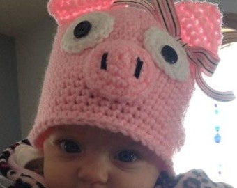 Infant Piggy Hat