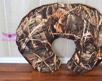 Real Tree Advantage Max 4 HD Camo and Brown Minky Boppy Pillow Cover