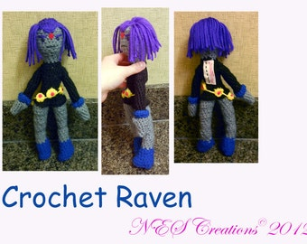 Crochet Raven Doll- Made to Order