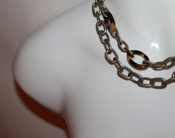 Chain & faux Tortoiseshell Necklaces