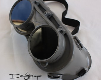 Grey Finish Steampunk Goggles by Dr. Sharp