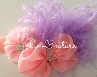 Birthday Girl Headband. You choose the colors & the  jeweled number.