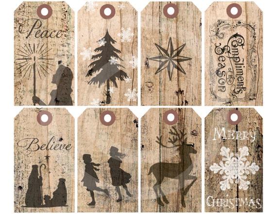 Items Similar To Printable Christmas Holiday Gift Tags