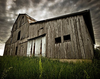 Rustic Old Barn Photograph - 13x20 in. - Cape Girardeau, MO - Wall Art - Wall Decor