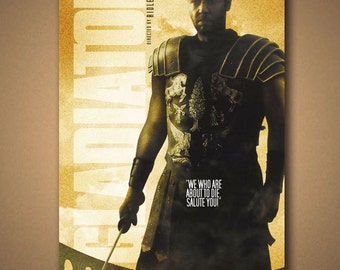 GLADIATOR Movie Quote Poster