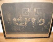"1851 A LITERARY PARTY At Sir Joshua Reynolds 20 1/2"" X 24"" Engraved By George Thompson"