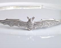 Bat Headband, Silver Bat Headband, Halloween Gift, British Seller UK, Gifts for Girls, Spooky Bat Headband, BFF Gift, Gifts for Her