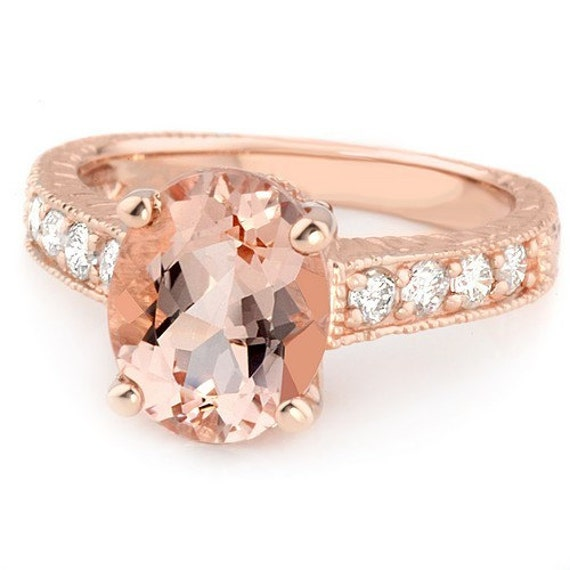 276ct Oval Peach Pink Morganite & Diamond By Jewelrypoint. Kalyan Jewellers Rings. Celtic Rings. Glenn Spiro Engagement Rings. $13000 Engagement Rings. Dream Engagement Rings. Opaque Engagement Rings. Shape Diamond Wedding Rings. Inlay Rings