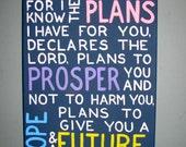 Original Canvas Painting - Jeremiah 29:11