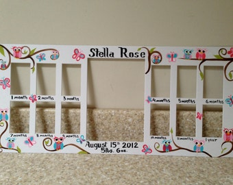Baby S First Year Picture Frame Baby Month Photo Frame