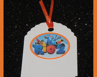Rio 2 gift tags, Rio 2 Birthday tags, Rio 2 party Gift Tags- set of 10