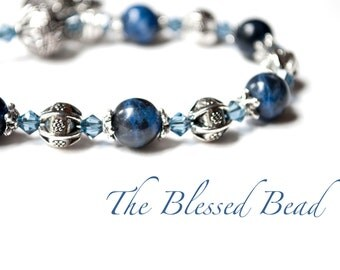 Saint Michael Rosary Bracelet with Novena Booklet, Saint Michael Patron of Police Officers, Catholic Jewelry, Featured in Catholic Digest