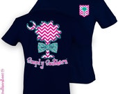Girlie Simply Southern Palmetto T-Shirt on Harbor Blue