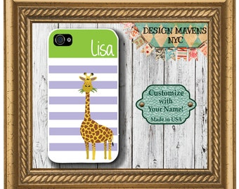Preppy Giraffe iPhone Case, Personalized iPhone Case, iPhone 4, iPhone 4s, iPhone 5, iPhone 5s, iPhone 5c, iPhone 6, 6s, 6 Plus, SE