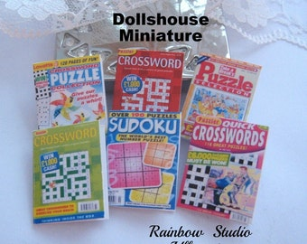 dollhouse puzzle magazines x 6  dollhouse 12th scale miniature lakeland artist new