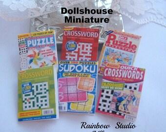 dollhouse puzzle magazines x 6  dollhouse 12th scale miniature lakeland artist new