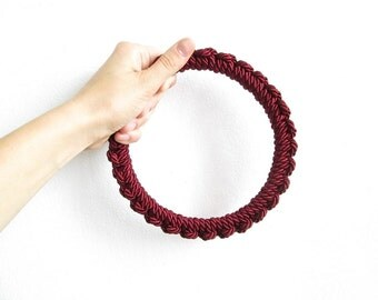 Statement Rope necklace Burgundy necklace Knot Rope Necklace