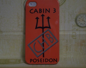 Iphone 4/5/5c/6/6+ Samsung S3/S4/S5/S6/S6edge/S3&S4 mini Case, Camp Half-Blood Inspired Percy Jackson Cell Phone Case, Cabin 3 Poseidon