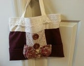 Mori girl bag rustic woodland purse vintage inspired accessory country lolita