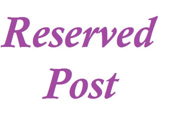"""Reserved Post for """"Margie"""""""