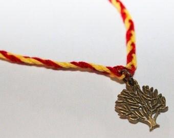 Divergent inspired Amity charm bracelet - Veronica Roth - Tree