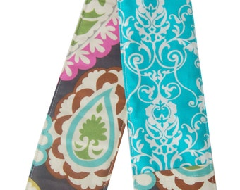 Paisley & Teal Camera Reversible Strap Cover