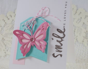 Handmade Greeting Card - Smile