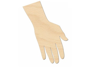 Hand Wrist Cutout Shapes Crafts, Gift Tags Jewelry display ornament Laser Cut Birch Wood Various Sizes
