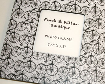 Bicycle Photo Frame, Picture frame, Black and white decor, Photo frame, Bicycle decor
