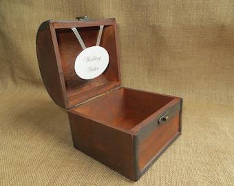Small, Wooden Wedding Wishes Box, Wedding Advice Trunk, Guest Book Alternative, Wishing Well, Wedding Wish Box, Rustic Wedding