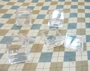 20PCS Small Clear Plastic Boxes, Display Boxes, Clear Display Cases,Transparent plastic box, Eco system terrarium boxes