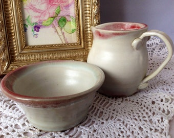 Pitcher And Bowl Set Etsy