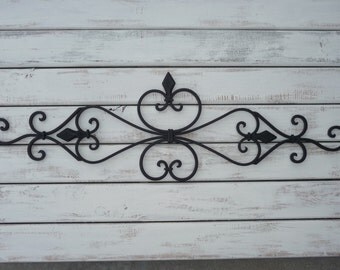 Wrought Iron Wall Decor ~ Bedroom Twin Bed Headboard ~ Black or White Wall Hanging ~ Patio ~ Shabby Chic Decor