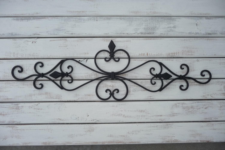 wrought iron wall decor bedroom twin bed headboard black. Black Bedroom Furniture Sets. Home Design Ideas