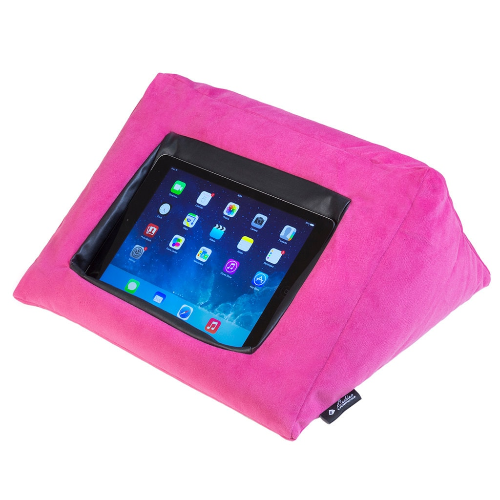 Ipad Cushion Pillow Stand Holder Icushion Velvet Pink