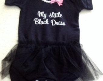 My Little Black Dress tutu onesie